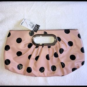💖 NWT Polka Dot Pink Clutch 💖